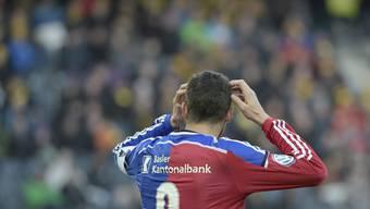 FCB-Captain Marco Streller war sichtlich unzufrieden mit der Leistung gegen YB.