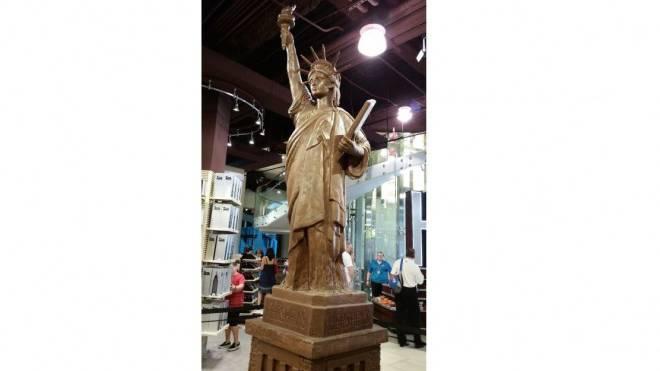 Schoggi-Freiheitsstatue des US-Marktleaders Hershey's in Las Vegas. Foto: HO