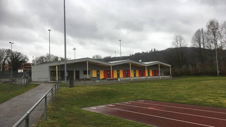 Das neue Garderobengebäude des FC Mellingen.