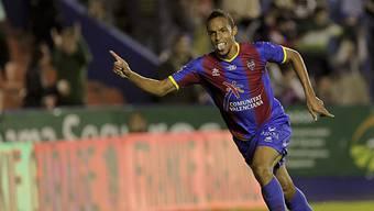 Levantes Stürmer Valdo erzielte das zwischenzeitliche 2:1