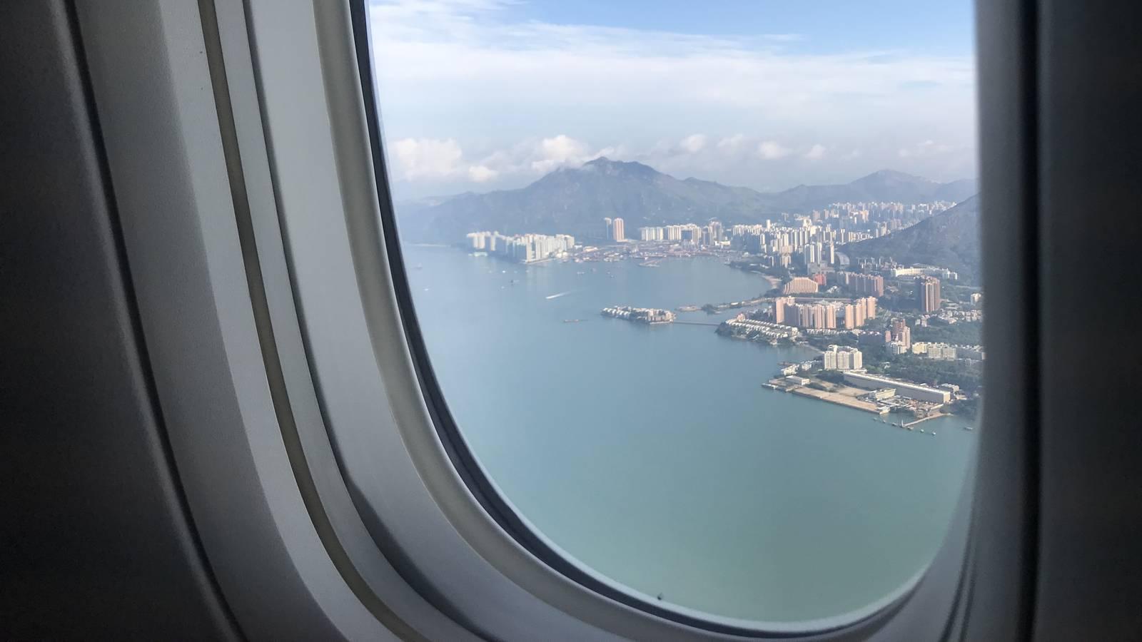 Der Anflug auf Hong Kong ist immer noch spektakulär (© Radio Argovia)