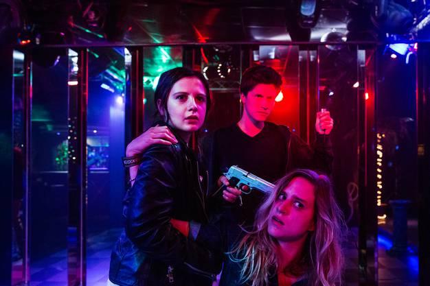 Setzen ihren Willen durch: v.l. Annina Walt als Lara, Jonas Götzinger als Max und Chantal Dubs als Vanessa Doerig.