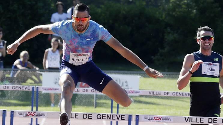 Kariem Hussein beim Meeting am letzten Wochenende in Genf.