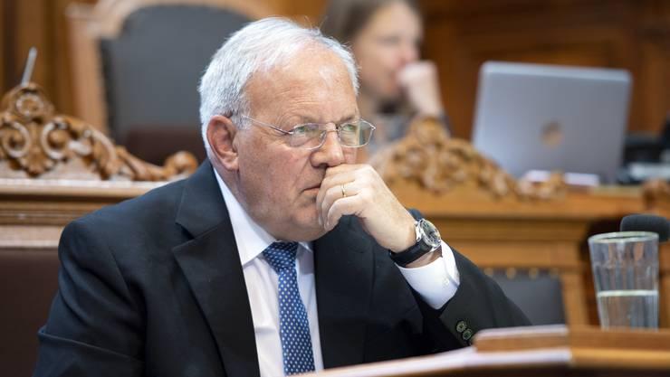 Für Wirtschaftsminister Johann Schneider-Ammann ist es derzeit nicht opportun, wie vom Gesamtbundesrat geplant die Kriegsmaterialverordnung zu lockern. (Archivbild)