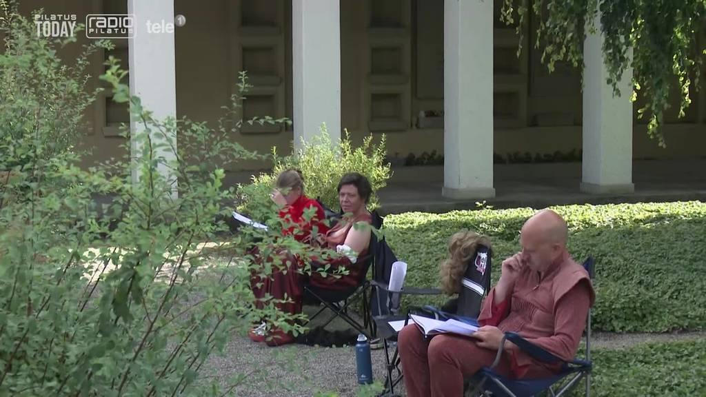 Im Luzerner Krematorium Friedental wird Theater gespielt