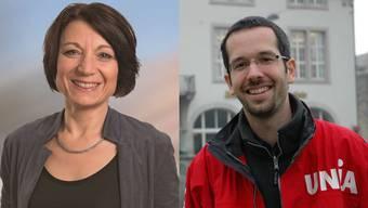 Arbeiteten eng zusammen, ehe es zum Bruch kam: Die Aargauer Regierungsratskandidatin Yvonne Feri und der ehemalige Geschäftsleiter der Unia-Sektion Zürich.