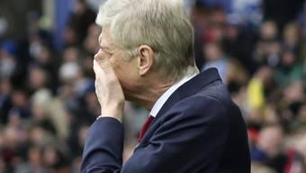 Arsenals Trainer Arsène Wenger ist fassungslos