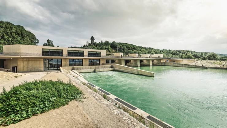 Das neue Wasserkraftwerk Hagneck ist einem Architekturwettbewerb entsprungen.