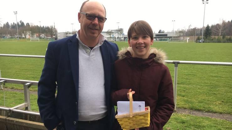 Gewinner des zweiten Tages: Cendrine und Papa Norbert aus Hausen