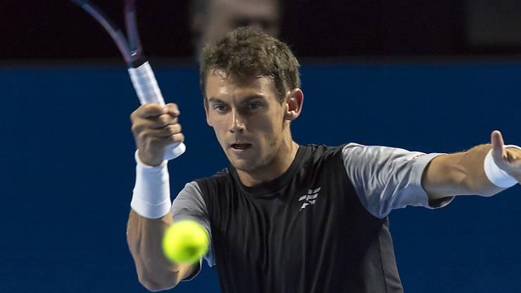 Henri Laaksonen muss sich an den Swiss Indoors in der 2. Runde geschlagen geben