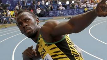 Usain Bolt kehrte in Glasgow auf die Bahn zurück