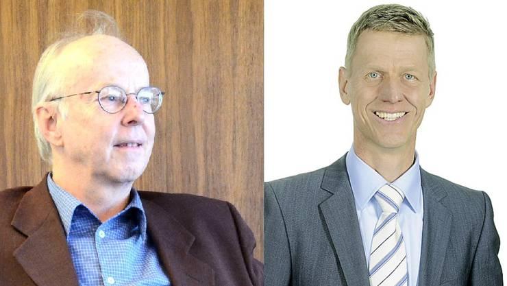 Stadtpräsident Toni Brühlmann (SP) und Gemeinderat Andreas Geistlich (FDP).