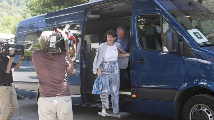 Das Bundesratsreisli von Bundespräsidentin Doris Leuthard im Kanton Aargau führte aufs Schloss Wildegg.