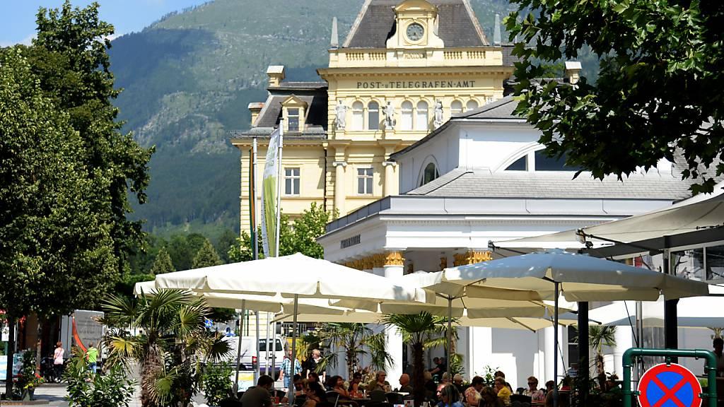 Wenn das der Kaiser Franz Joseph g'wusst hätt: Kulturhauptstadt!! Die Trinkhalle in Bad Ischl im österreichischen Salzkammergut.