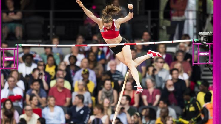 Nicole Büchler schaffte im Stabhochsprung-Final keinen Exploit