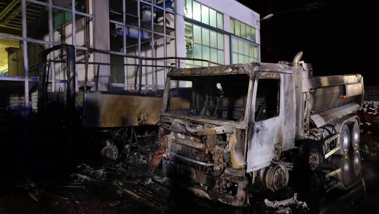 Fotos vom Brand in Schlieren am 13.02.2019
