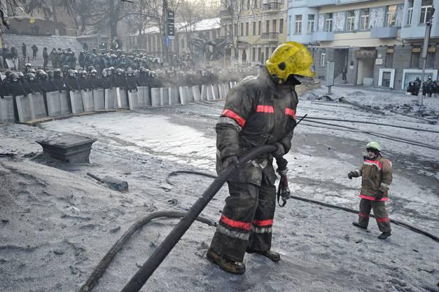 In Kiev blieb es heute mehrheitlich ruhig.