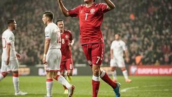 Robert Skov trifft für die Dänen beim Pflichtsieg gegen Gibraltar doppelt
