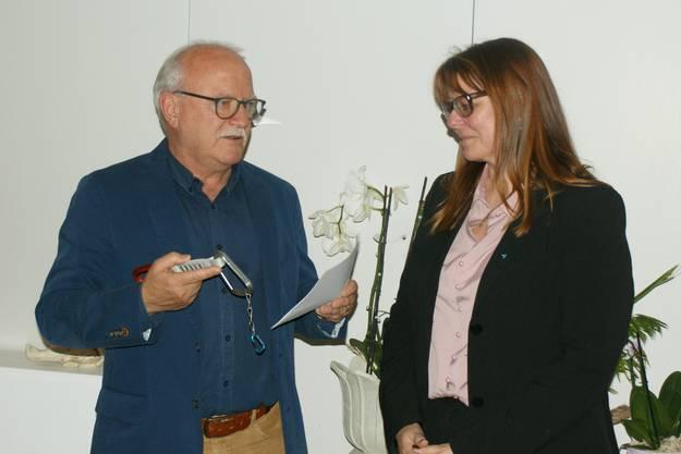 Guido Vogel (l) und Claudia Hauser (r) bei der Vorstellung