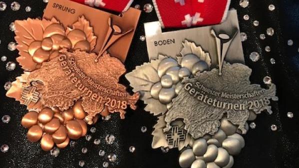 Yvana Barrer holt sich eine Bronze und Silber Medaille.
