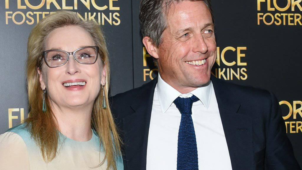 """""""Sie ist ein Genie, das darf man nicht vergessen"""": Schauspieler Hugh Grant über seine Kollegin Meryl Streep. (Archivbild)"""