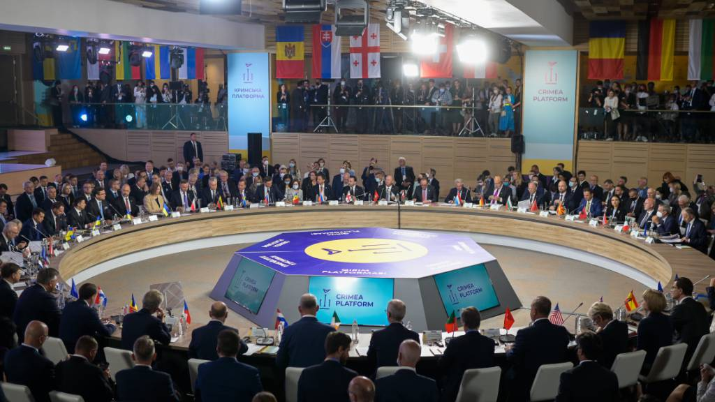 Ukraine betont bei Gipfel Anspruch auf Schwarzmeer-Halbinsel Krim