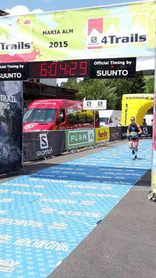 Zieleinlauf in Maria Alm am Ende der 4. Etappe