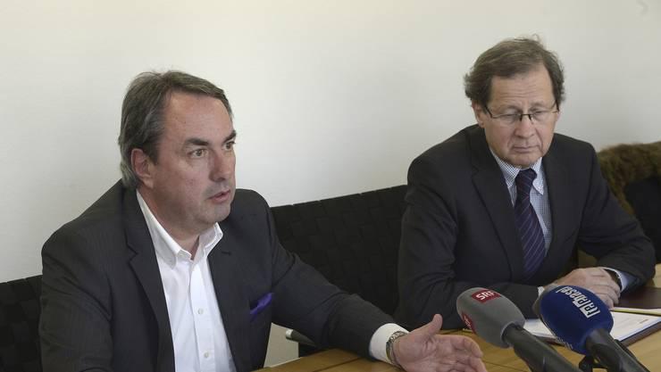 Treten beide per sofort zurück: BVB-Verwaltungsratspräsident Paul Blumenthal und sein Vize Paul Rüst.