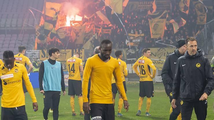 Die YB-Spieler erlitten in Genf die erste Saisonniederlage