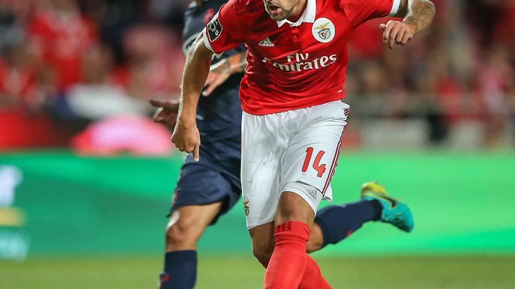 Haris Seferovic behielt die Nerven und traf beim 5:0 von Benfica Lissabon gegen Belenenses zum 3:0