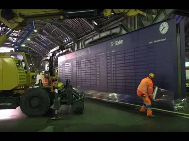 Neuer Generalanzeiger im Hauptbahnhof Zürich. 1. Teil - Demontage.