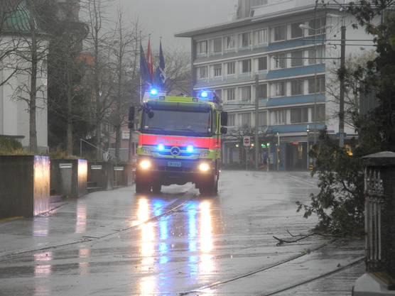 Die freiwillige Feuerwehr war kurz nach dem Vorfall vor Ort.