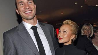 Sind zu dritt: Wladimir Klitschko und Hayden Panettiere (Archiv)