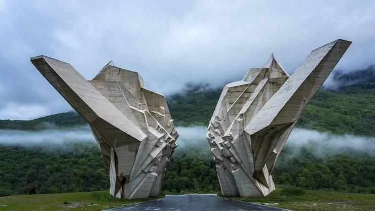Wie aus dem 3-D-Drucker: Das Sutjeska-Denkmal. Es erinnert an den Sieg der Partisanen gegen die Deutschen Verbände im Zweiten Weltkrieg.