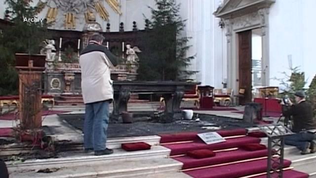 Sympathiekundgebung für Kirchen-Brandstifter