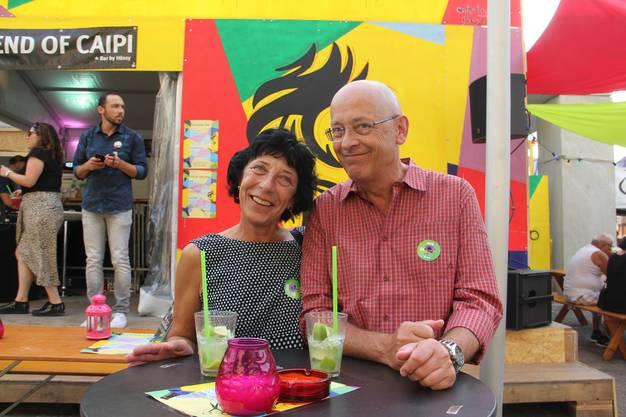 Lehrerin Marianne Portner, 62, und Gemeinderat Max Hürlimann, 63, aus Habsburg