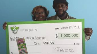 Calvin und Zatera Spencer gewannen im Lotto gleich drei Mal in einem Monat