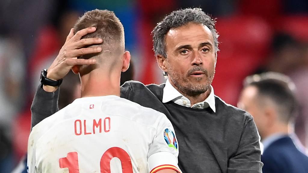 Spaniens Nationaltrainer Luis Enrique ist trotz dem bitteren Ausscheiden nicht zu sehr enttäuscht