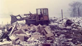 Aus dem Fotoalbum: So sah es aus, als Walter Dettwiler 1976 zum Stadtmist fuhr.