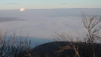 Der Aargau unter der Nebeldecke.