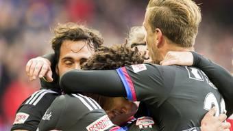 Der FCB hatte heute viele Gründe, um zu jubeln: drei Tore, eine starke Leistung und ein Sieg im letzten Heimspiel.