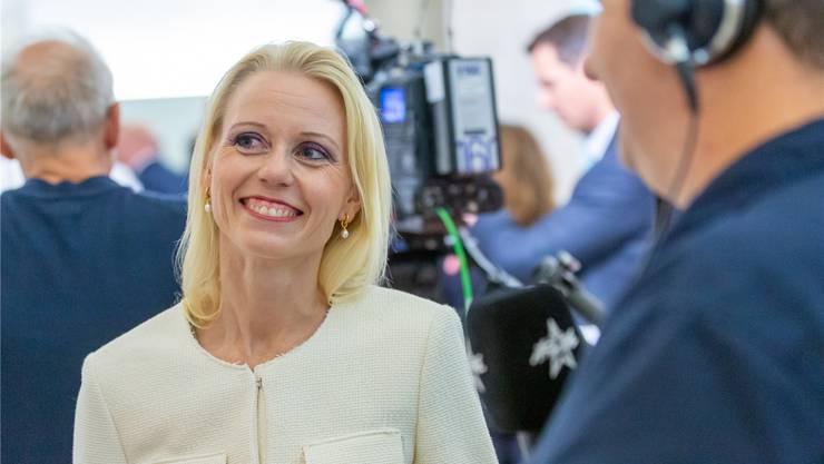 Strahlendes Lächeln: Lilian Studer freut sich über ihre Wahl in den Nationalrat.