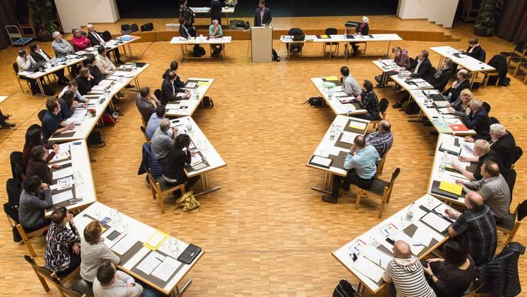 Einwohnerratssitzung des Einwohnerrats Buchs, am 23. Januar 2018 im Gemeindesaal.