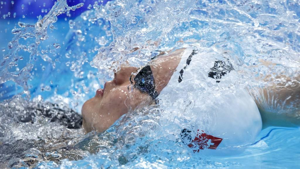 Spezialisitin im Rückwärtsschwimmen: Nina Kost holt sich einen weiteren Schweizer Rekord in einer Rückendisziplin
