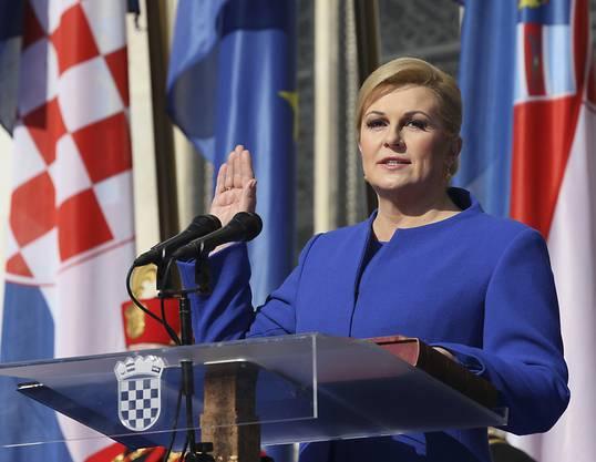 Kolinda Grabar-Kitarović ist seit dem 15. Februar 2015 Staatspräsidentin Kroatiens.