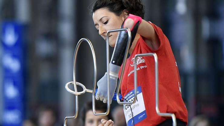 Im Rahmen des Leichtathletik-Meetings Weltklasse Zürich haben sich im Zürcher HB Menschen mit Behinderungen in verschiedenen Disziplinen gemessen.