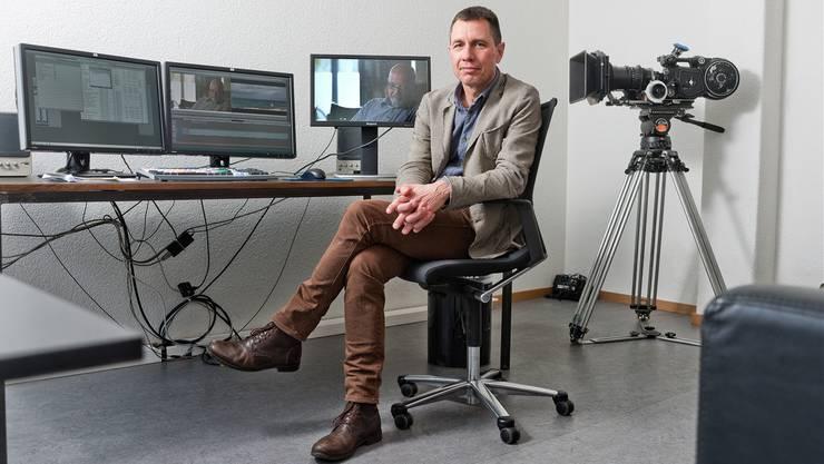 Schlichter Schneidraum: Die Analogkamera Ariflex BL holt Regisseur Christian Rösch manchmal in die 1980er-Jahre zurück.
