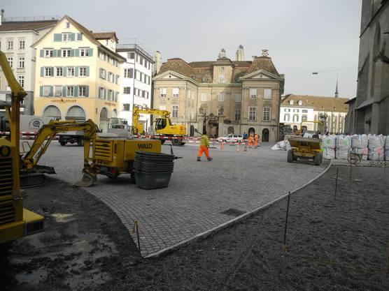 Die Neugestaltung des Münsterhofs ist fast abgeschlossen.