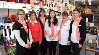 Das Team des Spielwarenfachgeschäfts Playland: Brigitte Calyle (Geschäftsführerin, von links), Rosmarie Bodenmann (Gründerin), Marion Wey, Nathalie Eichelberger, Beatrix Blättler und Mirjam Tille.
