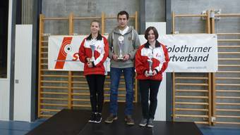 Bei den Junioren gab es mit Jasmin Blum, Simon Zellweger und Gina Gyger gleich ein ganzes Podest für den SOSV.